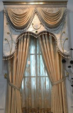 Charming Luxury Curtains And Drapes Designs with Best 25 Luxury Curtains Ideas On Home Decor Luxury Living Rooms Window Cornices, Window Coverings, Window Treatments, Curtains With Blinds, Window Curtains, Valances, Drapery Designs, Luxury Curtains, Curtain Styles
