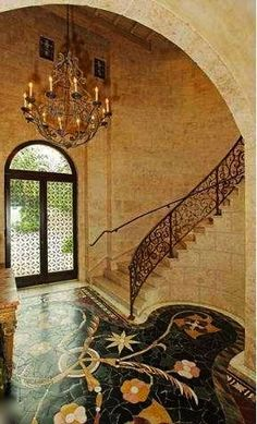 Exotic Mediterranean Foyer