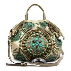 Caterina Print Bag in Turquoise (4.535 RUB) ❤ liked on Polyvore featuring bags, handbags, shoulder bags, purses, accessories, green, turquoise handbag, purse shoulder bag, print handbags and handbags purses