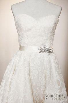 CARMEN  Bridal Wedding Sash with Rosette Brooch by SomethingIvory, $125.00