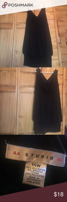 Black dress with hip and stomach hiding This black dress will be your little black dress it will cover all trouble spots and make you feel comfortable wearing. Gorgeous drape in back this is an amazing dress. Aa Studio Dresses Midi
