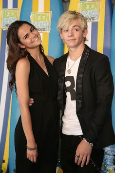 Ross Lynch Maia Mitchell and Ross Lynch attend the UK screening of Disney Channel's 'Teen Beach Movie' in London.