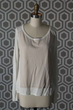 NWT Elizabeth and James Layered Cotton-Silk Pullover Medium M 6-8 Shirt Top
