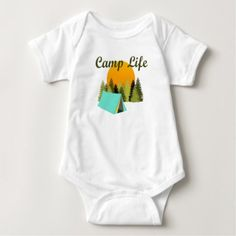 Camp Life Fun Tent Camping Wilderness Baby Outfit Baby Bodysuit - fun gifts funny diy customize personal