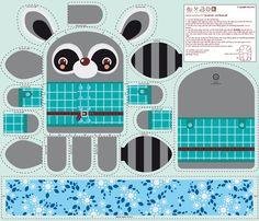 Cosy tecido Racoon Pal por verycherry em Spoonflower - tecido personalizado