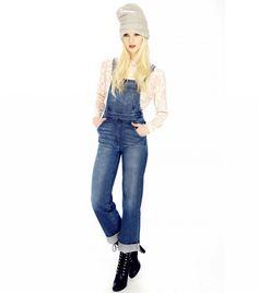 Wildfox Ladonna Denim Overalls in Idol