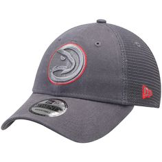 d6043b13256 Men s Atlanta Hawks New Era Graphite Velocity Trucker 9TWENTY Adjustable  Snapback Hat