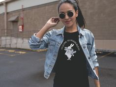 Welcome to Wonderland - black  T shirt for woman  inspired by Alice in Wonderland