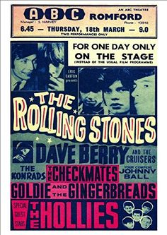 'The Rolling Stones - ABC Theatre, Romford' - Fantastic A4 Glossy Print - Taken From A Vintage Concert Poster by Unknown http://www.amazon.co.uk/dp/B00MN91KNC/ref=cm_sw_r_pi_dp_MUXmvb173YD34