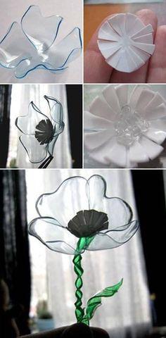 Flowers Using Plastic Bottles