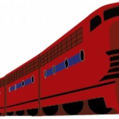 Dibujos animados tren moderno en el vector rojo