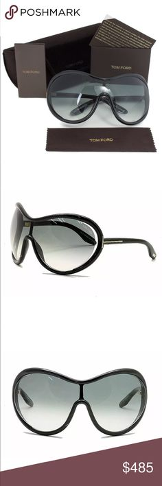 Tom Ford Grant Sunglasses Tom Ford Women's Grant TF267 FT267 01B Glossy Black Sunglasses 142MM  Product Description: Brand: Tom Ford Model: Grant, TF267, FT267 Frame/Temple Color: Glossy Black 01B Lens Color: Gradient Grey Size: Lens 142-Bridge 00-Temple 115mm Gender: Women's Made In: Italy   Item Includes: Tom Ford Sunglasses Tom Ford Extra Lens Set Tom Ford Gift Box  Tom Ford Case Tom Ford Cleaning Cloth Tom Ford Accessories Sunglasses