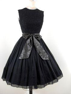 ~Vintage 1950's Cocktail Dress   Vintage 50's Party Dress~