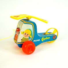Fisher Price Mini Copter 1970 by AttysSproutVintage on Etsy, $17.00