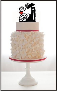 Hey, I found this really awesome Etsy listing at https://www.etsy.com/listing/158373857/wedding-silhouette-cake-topper-with-2