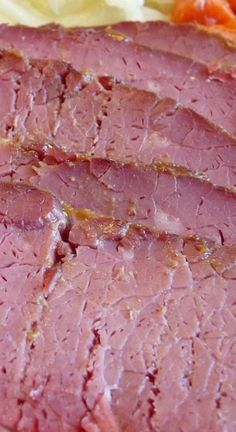 Corned Beef with Brown Sugar Mustard Glaze - the glaze gives it an extra kick! So good you will want to make extra for sandwiches.