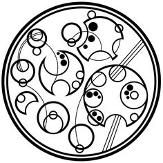 """I solemnly swear I am up to no good"" in Circular Gallifreyan. Doctor Who meets Harry Potter"
