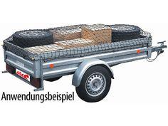 Anhängernetz schwarz 300x160 cm
