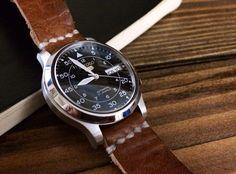 Custom Seiko 5 pilot watch.