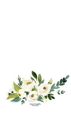 Infografías Wreath Watercolor, Watercolor Cards, Watercolour Painting, Watercolor Flowers, Watercolor Illustration, Flower Backgrounds, Wallpaper Backgrounds, Wallpapers, Wedding Cards