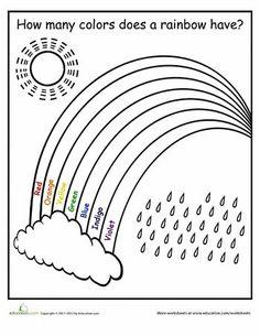 Rainbow Worksheets for Kindergarten. 20 Rainbow Worksheets for Kindergarten. Kindergarten Math Worksheets, Preschool Learning Activities, Free Preschool, Preschool Lessons, Color Activities, Worksheets For Kids, Preschool Printables, Preschool Forms, Free Printables