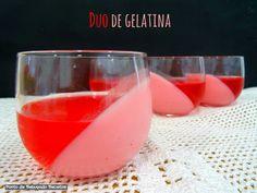 Ponto de Rebuçado Receitas: Duo de gelatina