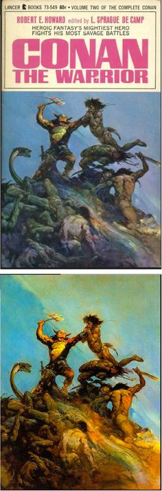 FRANK FRAZETTA - Conan the Warrior - Robert E. Howard - 1967 Lancer Books - cover by isfdb - print by frankfrazetta.net