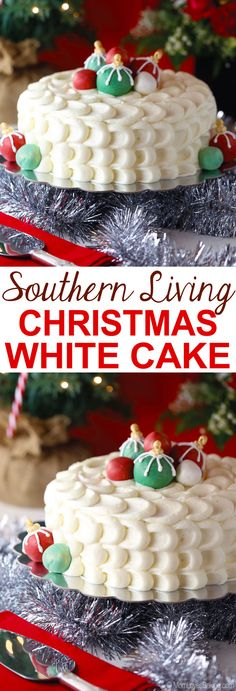 I finally made the Southern Living Christmas Cake! It's something I've always wanted to do. This year it's a classic vanilla cake with cream cheese frosting and edible ornaments. Guess what my neighbors said when I brought it to the Christmas party... Read more on my blog - MomLoveBaking.com!