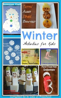 crafts, snacks, science, and gross motor winter activities for kids -- What are your favorite winter activities for kids?