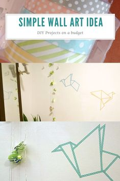 DIY on a budget. A simple tutorial with tricks and tips. how to transfer a drawi… DIY on a budget. A simple tutorial with tricks and tips. how to transfer a drawing to a wall, and how to use washi tape to create beautiful wall art. Diy Home Decor Rustic, Diy Home Decor On A Budget, Simple Wall Art, Diy Wall Art, Hacks, Kitchen Ikea, Diy Projects On A Budget, Washi Tape Diy, Home Decor Accessories
