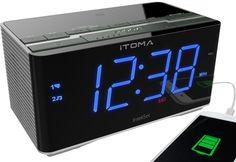 Itoma 3501 Alarm Clock Radio With Bluetooth Fm Radio Dual Alarm Auto Time