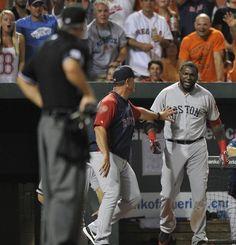 boston red sox papi | David Ortiz, John Farrell, Umpire Tim Timmons. Big Papi was MAD!