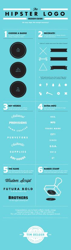 Graphic Design - Graphisms , Typography , Infographics and Design - The Hipster Logo Design Guide. Graphisms , Typography , Infographics and Design : – Picture : – Description The Hipster Logo Design Guide. -Read More – Logo Hipster, Hipster Design, Hipster Fonts, Hipster Coffee, Hipster Man, Design Web, Logo Design, Branding Design, Design Humor