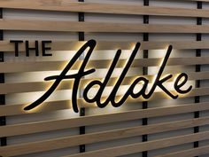 LED Laser Cut Aluminum Sign LED halo lit signage for The AdLake in Chicago. Sign by Right Way Signs. Decoration Restaurant, Restaurant Signage, Store Signage, Retail Signage, Wall Logo, Logo Sign, Backlit Signage, Led Sign Board, Custom Business Signs