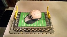 24th anniversary dallas cowboy cake with sharktooth hat topper!