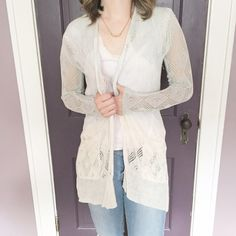 Sparrow for Anthropologie Ombré Cardigan Gorgeous blue to cream ombré. Size small. Fits true to size in my opinion. First picture filtered. Excellent condition. No rips or stains. Very minimal normal wear. No trades or use of other sites. Anthropologie Sweaters Cardigans