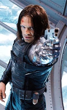 The Winter Soldier trying to carry out his mission, but we all know Bucky is fighting it ;) <-- this comment :)