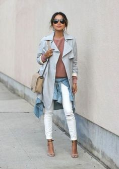 Pale Grey Chic trench, Classic trench coat in all seasons http://www.justtrendygirls.com/classic-trench-coat-in-all-seasons/