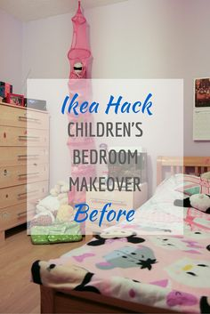 Children's Ikea Hack bedroom makeover Part Before Ikea Nordli, Ikea Hack Bedroom, Mid Sleeper Bed, Childrens Beds, Maximize Space, Design Process, Bed Frame, Den, Drawers