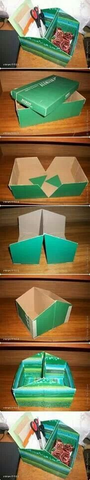 Storage made from a shoebox
