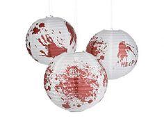"6 HALLOWEEN Party Decorations ZOMBIE Walking Dead BLOODY 12"" BALLOON LANTERNS #Halloween"