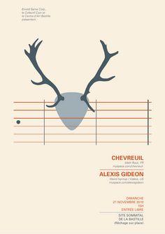 Music Poster Illustration by Denis Carrier