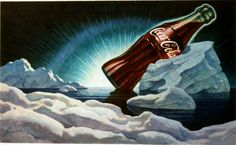 """""""Have a Coke"""" (advertisement for Coca-Cola)  1944  Oil on canvas, 20 3/4 x 33 3/4 in. (52.7 x 85.7 cm)  The Coca-Cola Company Archives  Used by permission, Courtesy of The Coca-Cola Company Archives"""