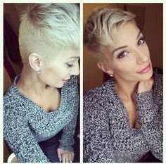 2015 Short Hairstyles: Easy Pixie Cut--cute but hubby might have a nervous breakdown if I went that short
