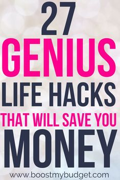 Over 27 GENIUS life hacks for saving money! You can save serious money with these tips and ideas! Lots of ways to automate your money. Best Money Saving Tips, Money Saving Challenge, Money Tips, Saving Money, Money Hacks, Savings Challenge, Save Money On Groceries, Save Your Money, Ways To Save Money