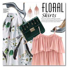 """""""The Perfect Summer Floral Skirt"""" by svijetlana ❤ liked on Polyvore featuring WithChic, Serefina, floralskirt, polyvoreeditorial and shein"""
