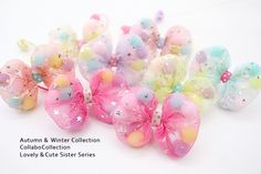 Scrunchies, Cute Sister, Winter Collection, Easter Crafts, Handicraft, Hair Bows, Hair Clips, Fall Winter, Kawaii