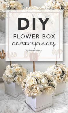 diy centerpeices, wedding decor, simple wedding decor, diy wedding decor, wedding decor ideas, diy wedding centerpeices, diy flower box, diy wedding // by erin elizabeth