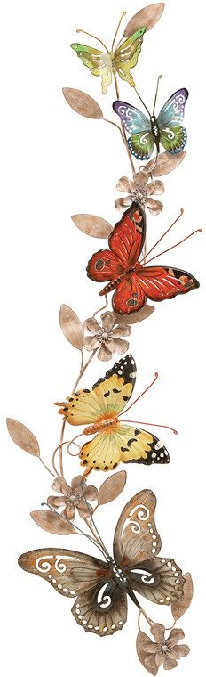 "UMA Inc Mtl Butterfly Decor 39""H, 10""W"