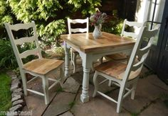 Rustic-OAK-Farmhouse-EXTENDING-Kitchen-Dining-Table-Chairs-NEW-Painted-F-B